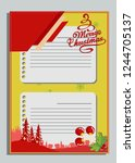 christmas greeting card with... | Shutterstock .eps vector #1244705137