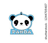cute and cheerfull panda design ... | Shutterstock .eps vector #1244705407