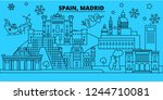 spain  madrid city winter... | Shutterstock .eps vector #1244710081