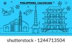 philippines  caloocan winter... | Shutterstock .eps vector #1244713504