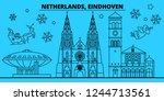netherlands  eindhoven winter... | Shutterstock .eps vector #1244713561