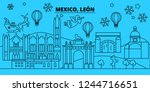 mexico  leon winter holidays... | Shutterstock .eps vector #1244716651