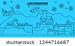 liechtenstein winter holidays... | Shutterstock .eps vector #1244716687