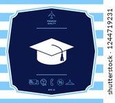 master cap for graduates ...   Shutterstock .eps vector #1244719231
