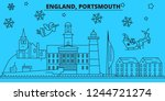 great britain  portsmouth... | Shutterstock .eps vector #1244721274