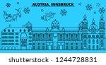 austria  innsbruck winter... | Shutterstock .eps vector #1244728831