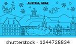 austria  graz winter holidays... | Shutterstock .eps vector #1244728834