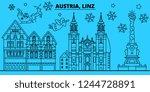 austria  linz winter holidays... | Shutterstock .eps vector #1244728891
