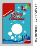 christmas greeting card with... | Shutterstock .eps vector #1244729167