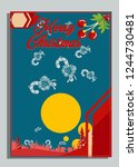 christmas greeting card with... | Shutterstock .eps vector #1244730481