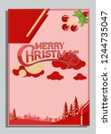 christmas greeting card with... | Shutterstock .eps vector #1244735047