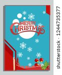christmas greeting card with... | Shutterstock .eps vector #1244735377
