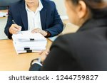 asian businessman and his... | Shutterstock . vector #1244759827