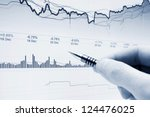financial graphs and charts... | Shutterstock . vector #124476025