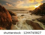 stones at the beach and soft... | Shutterstock . vector #1244765827