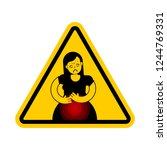 attention pms. caution... | Shutterstock .eps vector #1244769331