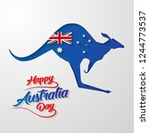 happy australia day calligraphy ... | Shutterstock .eps vector #1244773537
