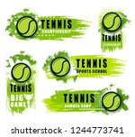 tennis sport club or... | Shutterstock .eps vector #1244773741
