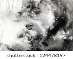 abstract black and white ink... | Shutterstock . vector #124478197