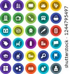 white solid icon set  cleaner... | Shutterstock .eps vector #1244795497