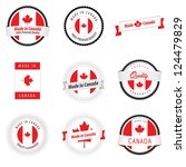 set of made in canada labels ... | Shutterstock .eps vector #124479829