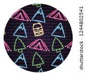 camping neon concept | Shutterstock .eps vector #1244802541