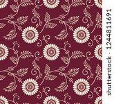 seamless vintage floral pattern | Shutterstock .eps vector #1244811691