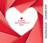 valentine s day background   Shutterstock .eps vector #124481359