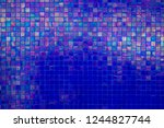 colorful wall tile wall paper... | Shutterstock . vector #1244827744