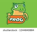 frog logo design | Shutterstock .eps vector #1244840884