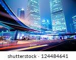 night scene of modern city   Shutterstock . vector #124484641