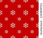 seamless white snowflake on red ...   Shutterstock .eps vector #1244849521