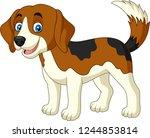 cartoon happy little dog | Shutterstock .eps vector #1244853814