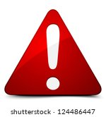 exclamation danger sign | Shutterstock .eps vector #124486447