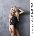 young  sexy and beautiful blond ... | Shutterstock . vector #1244872207