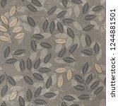 seamless decorative leaf pattern   Shutterstock . vector #1244881501