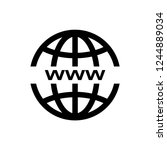 www icon  website icon vector | Shutterstock .eps vector #1244889034
