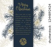 christmas sketch hand drawn... | Shutterstock .eps vector #1244892424