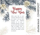 christmas sketch hand drawn... | Shutterstock .eps vector #1244892427