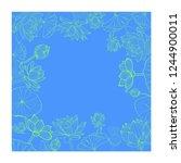 vector hand drawn botanical... | Shutterstock .eps vector #1244900011
