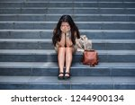 young depressed and desperate...   Shutterstock . vector #1244900134