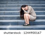 young depressed and desperate... | Shutterstock . vector #1244900167