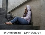young sad and depressed asian...   Shutterstock . vector #1244900794