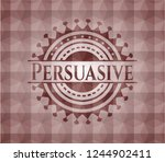 persuasive red emblem with... | Shutterstock .eps vector #1244902411