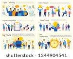 set of vector concept... | Shutterstock .eps vector #1244904541