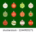 christmas ball  bauble icon set ... | Shutterstock .eps vector #1244905171