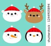 merry christmas. new year.... | Shutterstock .eps vector #1244905894