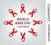 aids awareness. world aids day... | Shutterstock .eps vector #1244908921