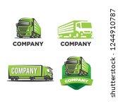 variations truck logo | Shutterstock .eps vector #1244910787
