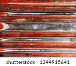 close up old galvanized zinc... | Shutterstock . vector #1244915641
